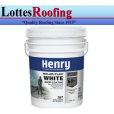 27 - 5 gal pail Henry 287SF White Rubber Roof Coating