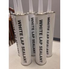 10 tubes -  White Roofing Elastomeric 10 oz Lap CAULK